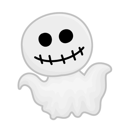cute ghost: cute ghost isolated illustration on white background