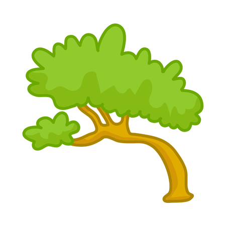 forest conservation: tree isolated illustration on white background