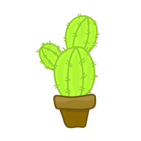 fertile: cactus isolated illustration on white background Illustration
