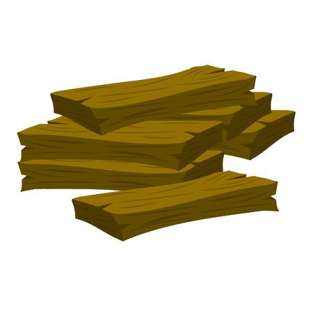 flooring: wood planks isolated illustration on white background