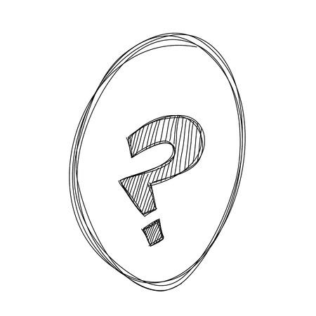 daub: Hand draw Question mark on White background Illustration