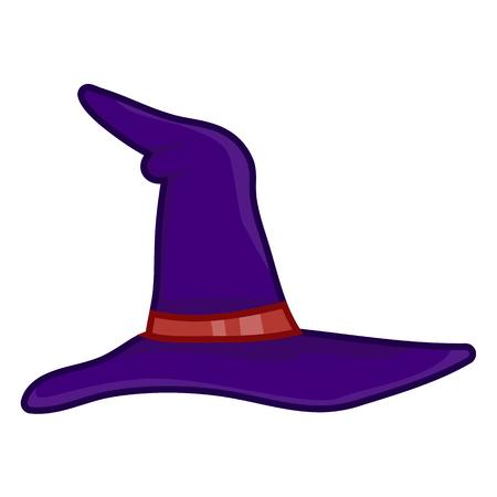 czarownica: Kapelusz czarownicy pojedyncze ilustracji na białym tle Ilustracja