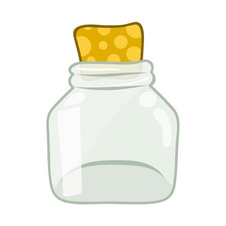 botellas vacias: botellas vac�as ilustraci�n aislada en el fondo blanco