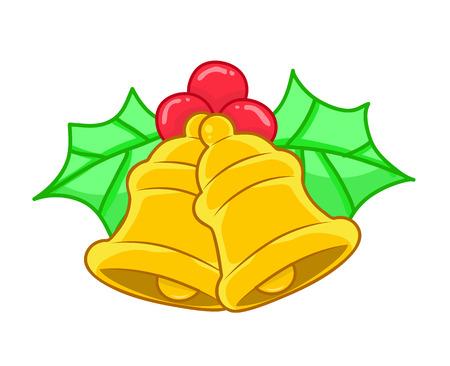 jingle bells: Christmas Jingle bells isolated on white background