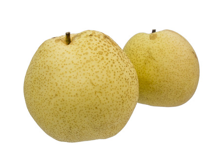 asian pear: Asian pear fruit isolated  on white background