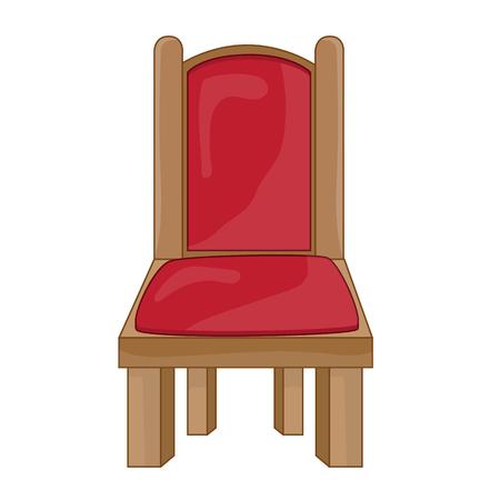 tubular: Chair isolated illustration on white background