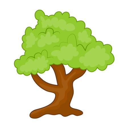 tree isolated: tree isolated illustration on white background