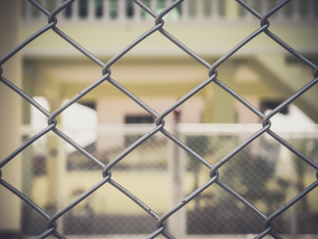 wire fence: close up wire fence