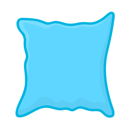 headboard: pillow isolated illustration on white background