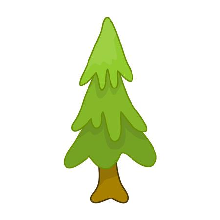 christmas tree illustration: Christmas tree isolated illustration on white background