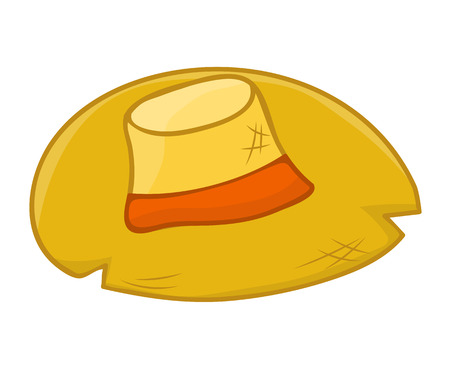 straw: straw hat isolated illustration on white background