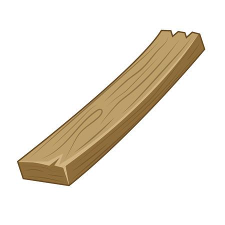 houten plank geïsoleerd illustratie op witte achtergrond