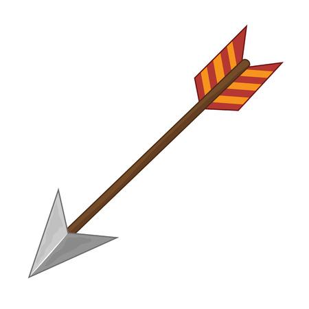 arco y flecha: flecha ilustración aislada en el fondo blanco