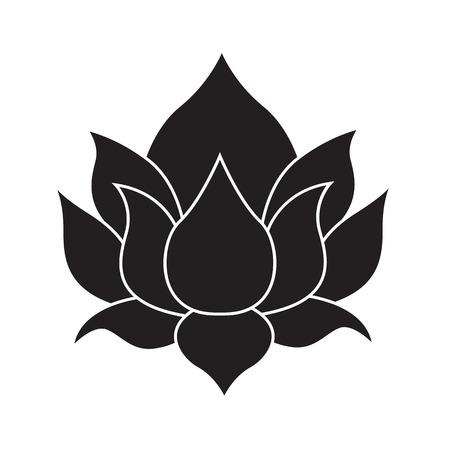 lotus icon isolated illustration on white background Çizim
