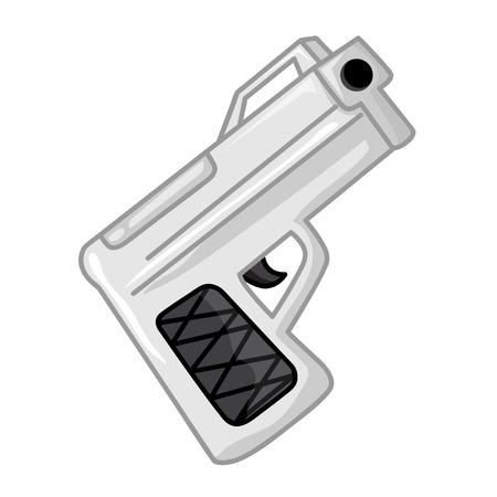 revolver: gun isolated illustration on white background Illustration