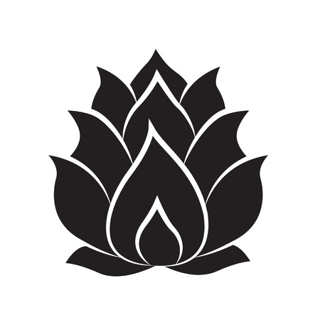 icona di loto illustrazione isolato su sfondo bianco