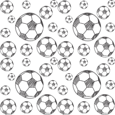 tourney: pattern with soccer balls background