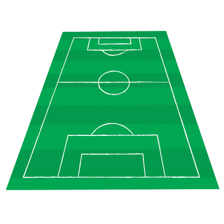 offside: football court or field isolated illustration on white background Illustration