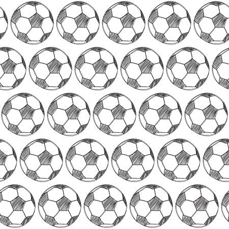 tourney: Seamless pattern with soccer balls Illustration