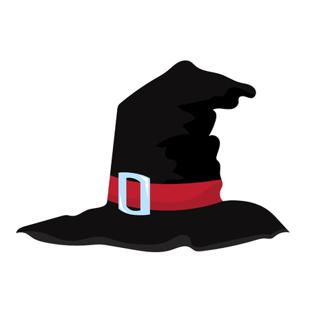 Witch hat isolated illustration on white background Illustration