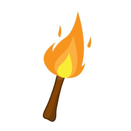 torch isolated illustration on white background Illustration