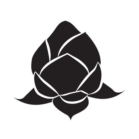 lotus icon isolated illustration on white background Illustration