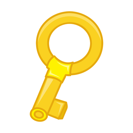 golden key: antique golden key isolated illustration