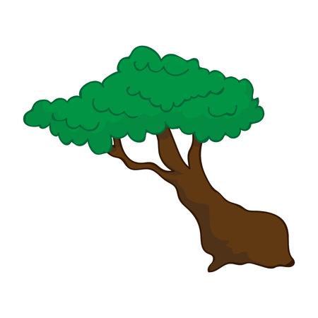 tree isolated illustration Illustration