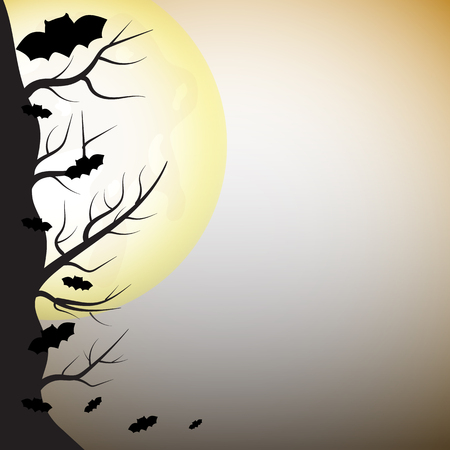 greeting card background: Halloween greeting card holidays background. Vector illustration.