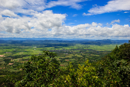 Stunning areal view from Mount Stock Photo