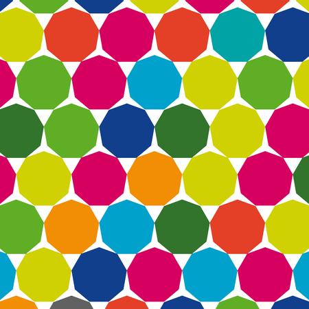 angled: Retro geometric hexagon pattern