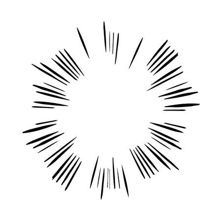speed: Comic speed lines background Illustration