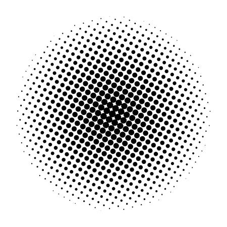 Demi-teinte motif de points de cercle arrière-plan