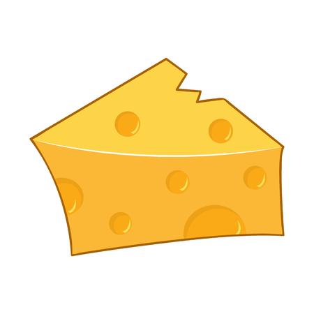 cheese isolated illustration on white background