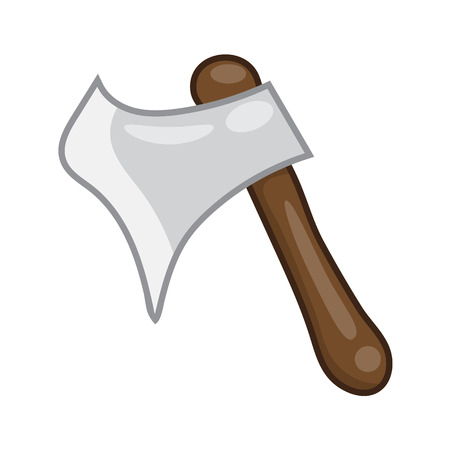 blade: axe isolated illustration on white background