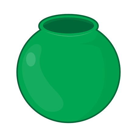 pot isolated illustration on white background