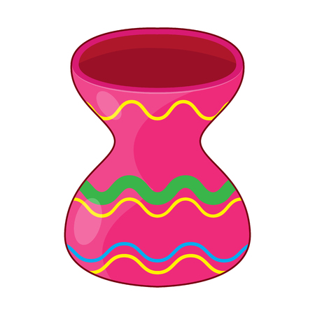 Vase isolated illustration Illustration