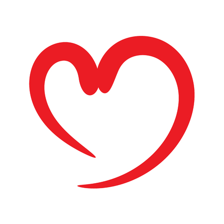 diseño de forma de corazón para símbolos de amor. día de San Valentín