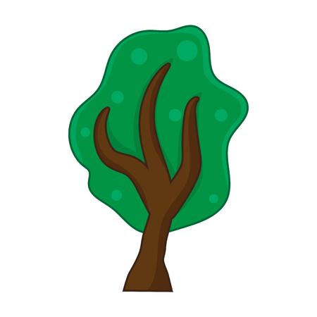 Tree isolated illustration on white background Illustration