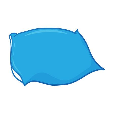headboard: Pillow isolated illustration on white background Illustration