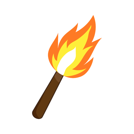 Torch isolated illustration on white background