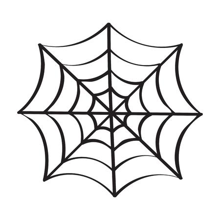 cobweb isolated illustration on white background