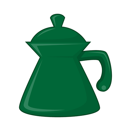 thermal: tea kettle isolated illustration on white background