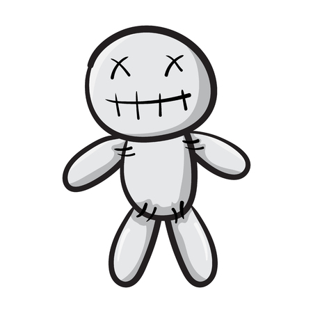 Voodoo doll isolated icon symbol design vector illustration Illustration