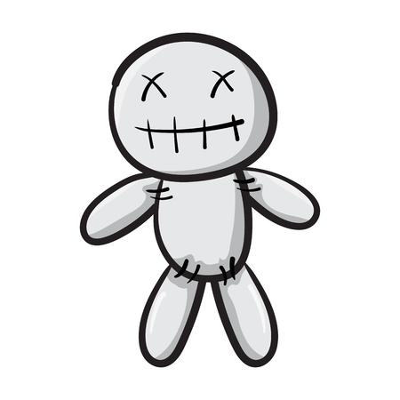 Voodoo doll isolated icon symbol design vector illustration Stock Illustratie