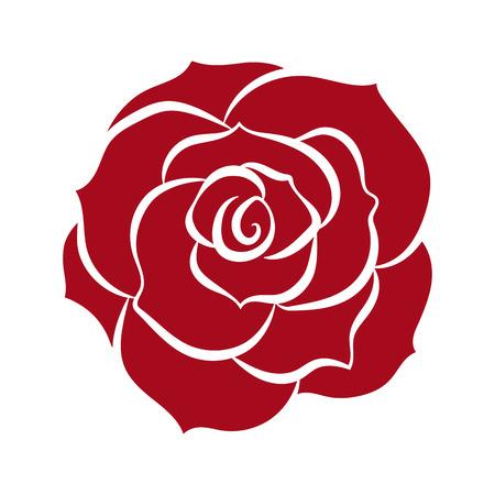 red rose isolated illustration on white background