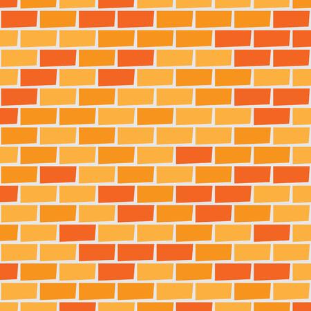 Orange and red brick wall background 일러스트