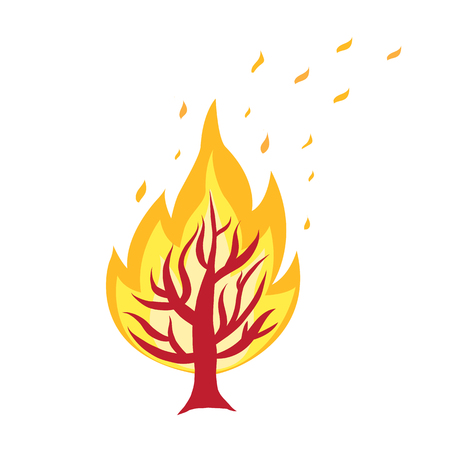 forest fire icon isolated illustration on white background Stock Vector - 127122548