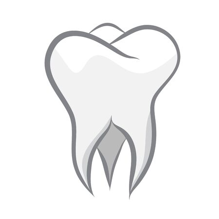 Teeth icon isolated on wihte background. Vector illustration Illustration