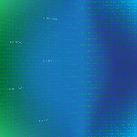 Abstract futuristic technology with binary code. background with digits